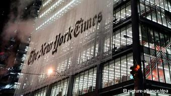 epa03562351(FILE) A view of the New York Times building in New York, New York, USA, on08 December2008. The New York Times reports on30 January2013, that hackers with likely ties to the Chinese military have allegedly infiltrated several of its computers over the last four month, possibly in connection with a series of stories it ran on outgoing Chinese prime minister Wen Jiabao. EPA/JUSTIN LANE pixel